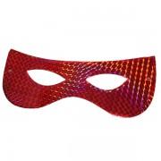Papírszemüveg, hologramos, piros 6 db/cs