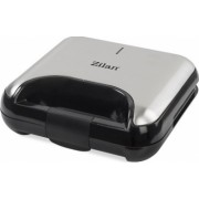 Sandwich-maker ZILAN 5 in 1 ZLN-3932 800 W 5 tipuri de placi grill triunghi sandwich waffle nuci Negru/Inox