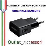 Alimentatore Presa di Corrente USB Originale Samsung 2A ETA-U90EBE Nero