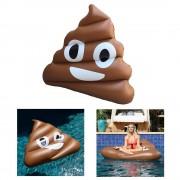 Sonstige Marke Aufblasbare Riesen Emoji Luftmatratze Liegesofa Air Lounge Kackhaufen Poop (160cm) - Braun