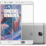 Coloured Tempered Glass Screen Protector for Oneplus 3 Oneplus 3T(White)