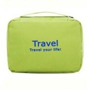 Swadec Toiletry Shaving Jewelry Hanging Bag Organizer - Green Travel Toiletry Kit(Green)