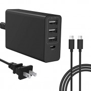 61w USB C Charger for MacBook Pro 13 inch 2016 2017 2018, Type C PD Wall Charger Power Adapter for Laptop/Ipad Pro/Phone/Nexus 5X 6P/ Samsung Galaxy S
