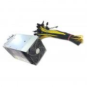 Sursa pentru minat Emerson 2000W, 162 Amperi, cablata 20 mufe PCI-E