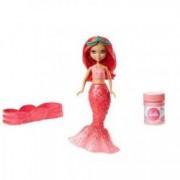 Papusa Barbie Dreamtopia rosie Sirena cu baloane de sapun