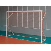 Poarta fotbal aluminiu 4mx2m cu suporti pentru sol