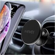 Suport Telefon Auto iPhone Samsung Huawei Magnetic Pentru Ventilatie Negru