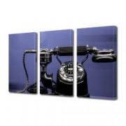 Tablou Canvas Premium Abstract Multicolor Telefoane Colorate Decoratiuni Moderne pentru Casa 3 x 70 x 100 cm
