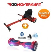 "Hoverkart and 6.5"" Hoverboard Daytona Red Bundle (GoDrifter)"