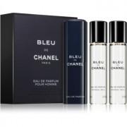 Chanel Bleu de Chanel Eau de Parfum (3 x recarga) para homens 3 x 20 ml