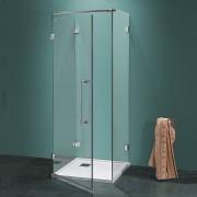 Box doccia a tre lati Antin/U da 90 cm in cristallo 6 mm Cerniere Satinato
