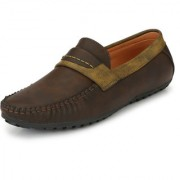 Hope Quay Men's Brown PU Leather Loafers