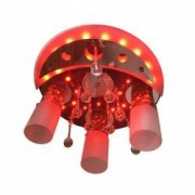 Lustra DC 8054/3 multicolora telecomanda 3e27 dulie ceramica leduri multicolora becuri led 9w 6400k incluse