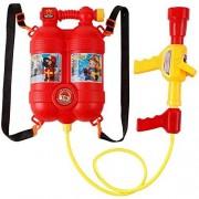FHYDYZ Juguete de pulverización de Agua para niños con Boquilla y Tanque de Agua Juguete Mochila de Bombero Pistola de pulverización de Agua Juguete de Playa de Agua al Aire Libre