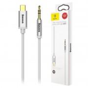 Baseus M01 USB Type-C / 3.5mm Audio Cable - 1.2m - Silver