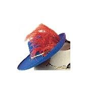 Muskétás kalap filcből (kék színben)