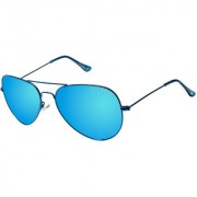 David Blake Blue Aviator Polarised UV Protected Sunglass
