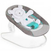 Бебешки шезлонг 2 в 1 - Alpha bouncer Hearts grey, Hauck, 661888