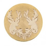 ELECTROPRIME® Retro Seal Wax Stamp Xmas Deer Engraved Sealing Wood Handle for Envelope #2