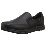 Skechers for Work Men's Nampa-Groton Food Service Shoe,Black Polyurethane,9.5 M US