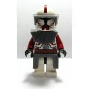 Lego Star Wars Loose Mini Figure EPII Clone Wars Commander Fox with Twin Blaster Pistols (Maroon)