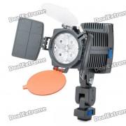 12W 6500K 600-lumen 4-LED luz blanca lampara de video con filtros-negro (1 x sony NP-F550)
