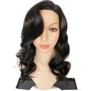 Sellers Destination Long Wig Natural Straight looking human hair wig for Women(size 30 Black)