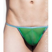 Mategear Ra Chi Mesh Series Extremely Sexy Mini G String Underwear Green 1591202