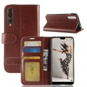 Huawei P20 Pro PU + TPU Crazy Horse Texture Horizontal Flip Leather Case with Wallet & Holder & Card Slots (Brown)