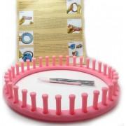 Telar para trapillo de plastico redondo de 24 cm de diametro