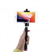Shop4 - iPhone 8 Plus Selfie Stick Bluetooth Roze