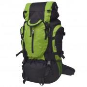 vidaXL Plecak turystyczny XXL 75 L, czarno-zielony