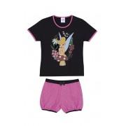 Pijama Infantil Curto Feminino Lupo Tinker Bell Disney