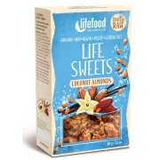 Life Sweets migdale cu cocos si vanilie raw bio 90g