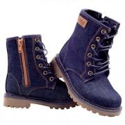 New denim boot, zipper at side