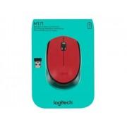 Logitech Rato M171 (Wireless - Casual - Vermelho)