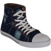 Austrich Blue White High Ankel Length Boot