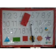 Ekta Write & Wipe Writing Board Numbers & Shape By Krasa Toys