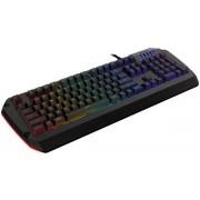 Tastatura Tesoro Colada Spectrum G3SFL RGB LED, Cherry MX Blue (Neagra)