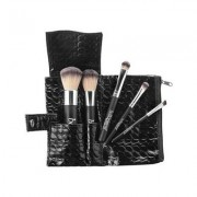 Bellápierre Cosmetics Make-up Pinsel Travel Brush Set Foundation Powder Brush + Angled Blush Brush + Concealer Brush + Liner/Brow Brush + Eyeshadow Brush 1 Stk.