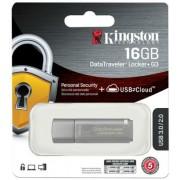 Pendrive, 16GB, USB 3.0, jelszavas védelemmel, KINGSTON DTLPG3, ezüst (UK16GPG3E)