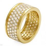 Дамски сребърен пръстен с циркон
