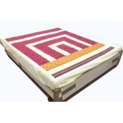 Imaginations By Kuntal'S Red Dot Box Double Bedsheet Set