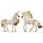 Schleich Fantasy Bayala Rainbow Unicorn Mare and Stallion Set of 2 Beautifully Detailed Bagged and Ready to Give