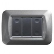 > System Black RF - pulsantiera da parete 2 canali