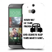 Husa HTC One M8 Silicon Gel Tpu Model Never Rat On Your Friends B&W