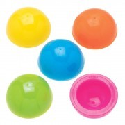 Baker Ross Colourful Popping Balls - 12 Half Ball Toy Poppers In 6 Assorted Colours. Toy Party Bag Fillers. Size 3.2cm.
