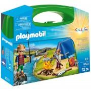 Playmobil Maletin Grande - Camping Con Kayak Y Carpa - 9323