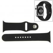 Voor de Apple Watch Sport 38mm High-performance Rubber Sport horlogeband met Pin-en-tuck Closure(Black)