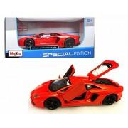 New 1:24 W/B Special Edition Orange 2011 Lamborghini Aventador Lp 700 Diecast Model Car By Maisto
